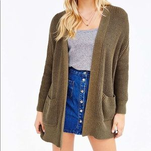 urban outfitters bdg olive cardigan